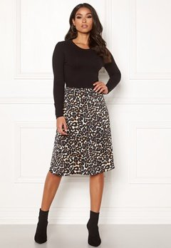 Happy Holly Susanna 2in1 dress Black / Leopard Bubbleroom.no