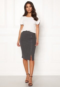Happy Holly Elly skirt Dark grey melange Bubbleroom.no