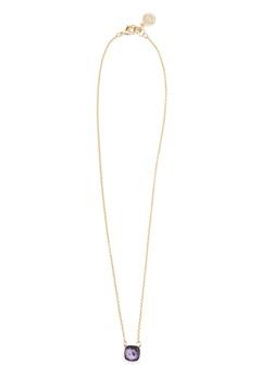 SNÖ of Sweden Hatt Pendant Necklace Gold/Purple Bubbleroom.no
