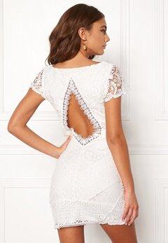 DRY LAKE Heart Dress White Lace Bubbleroom.no