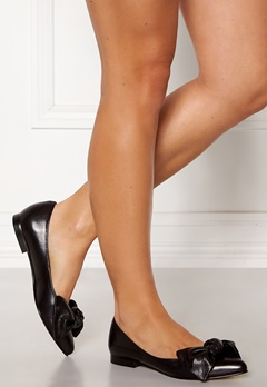 Heelow Sophia Leather Bow Svart Skinn Bubbleroom.no