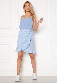 VERO MODA Henna Wrap Short Skirt Placid Blue / Dots Bubbleroom.no