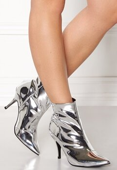 Henry Kole Zoe Leather Boots Silver Bubbleroom.no