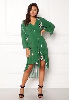 DAGMAR Hirae Dress Green Print Bubbleroom.no