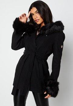 Hollies Olivia Coat Black/Black bubbleroom.no