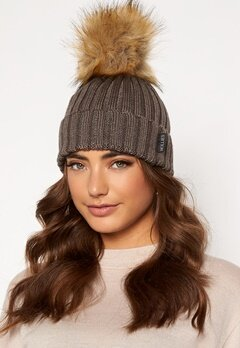 Hollies PomPom Classic Hat Taupe/Natural bubbleroom.no