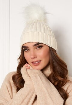 Hollies PomPom Classic Hat White/White Bubbleroom.no