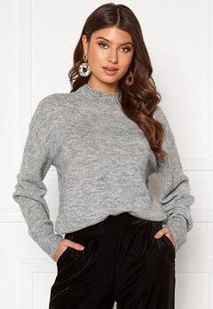 ICHI Amara LS Pullover Grey Melange Bubbleroom.no
