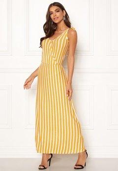 ICHI Clayton Dress 17018 Old Gold Bubbleroom.no