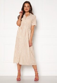ICHI Gry Dress Natural Striped Bubbleroom.no