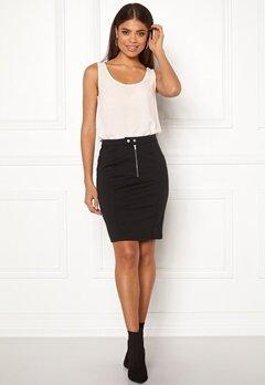 ICHI Kate Slim Skirt Black Bubbleroom.no