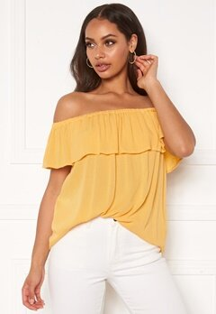 ICHI Marrakech Blouse Buff Yellow Bubbleroom.no
