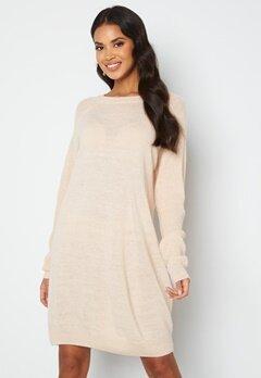 ICHI Novo Knitted Dress 133801 Crystal Gray bubbleroom.no