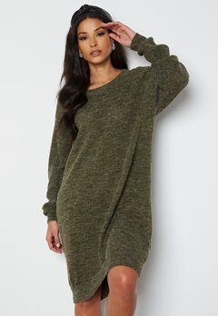 ICHI Novo Knitted Dress 190512 Ivy Green bubbleroom.no