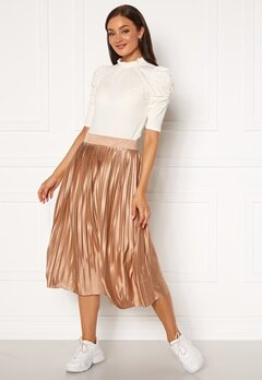 ICHI Pleat Skirt Natural Bubbleroom.no