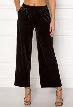 ICHI Velvet Pants Black Bubbleroom.no
