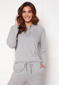 ICHI Yose LS Hoodie T-Shirt Grey Melange Bubbleroom.no