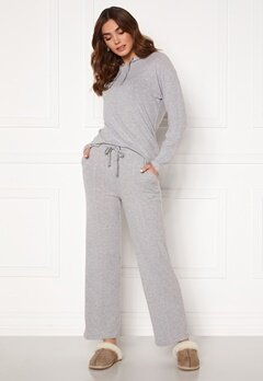 ICHI Yose Trousers Grey Melange Bubbleroom.no