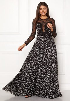 Ida Sjöstedt Alicia Dress Chiffon&Lace Black Bubbleroom.no