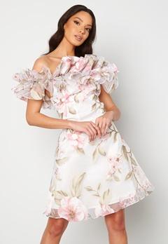 Ida Sjöstedt Arielle Dress White/Pink Bubbleroom.no