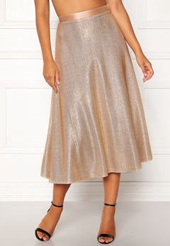 Ida Sjöstedt Zoe Skirt Gold Bubbleroom.no