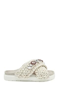 INUIKII Slipper Woven Stones 101 White Bubbleroom.no