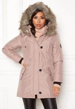 ONLY Iris Fur Parka Rose dust Bubbleroom.no