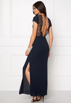 Samsøe & Samsøe Isar Long Dress Dark Sapphire. Bubbleroom.no
