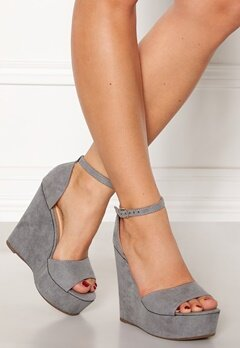 Krush Iso High Heel Sandals Grey Bubbleroom.no