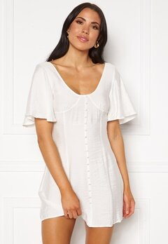 Ivyrevel Button Up Croset Dress White Bubbleroom.no