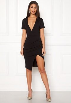 Ivyrevel Deep V-neck Slit Dress Black Bubbleroom.no