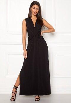 Ivyrevel Drape Front Slit Dress Black Bubbleroom.no