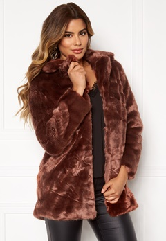 Ivyrevel Faux Fur Jacket Brown Bubbleroom.no