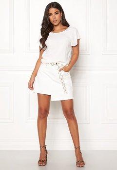 Ivyrevel Raw Edge Denim Skirt White Bubbleroom.no