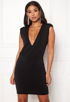 Ivyrevel Sharp Shoulder Mini Dress Black Bubbleroom.no
