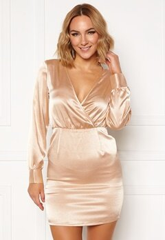 Ivyrevel V Neck Drapy Dress Gold Bubbleroom.no