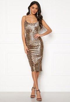 Ivyrevel Velvet Bodycon Dress Black/Brown Leopard Bubbleroom.no