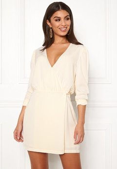 Ivyrevel Woven Wrap Mini Dress Offwhite Bubbleroom.no