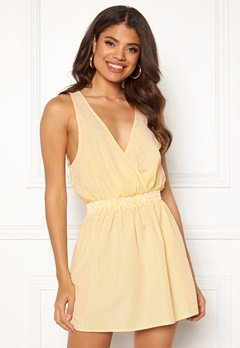 Ivyrevel Wrap Mini Dress Yellow Stripe Bubbleroom.no
