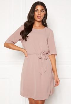 Jacqueline de Yong Amanda 2/4 Belt Dress Shadow Gray Bubbleroom.no