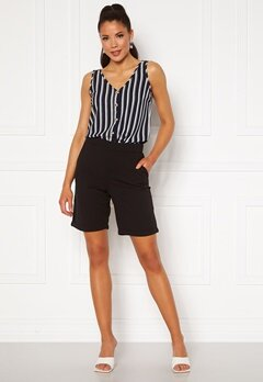 Jacqueline de Yong Catia Treats Shorts Black Bubbleroom.no