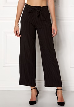 Jacqueline de Yong Chung Wide Pant Black/Stripes Bubbleroom.no