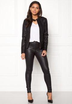 Jacqueline de Yong Dallas Faux Leather Jacket Black Bubbleroom.no