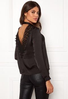 Jacqueline de Yong Fibola L/S Lace Top Black Bubbleroom.no