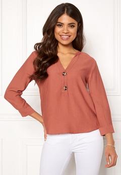Jacqueline de Yong Ginger 7/8 Shirt Redwood Bubbleroom.no