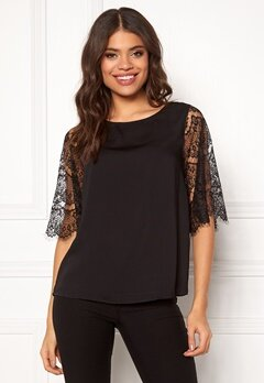 Jacqueline de Yong Gustav 2/4 Top Black Bubbleroom.no