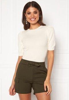 Jacqueline de Yong Lady S/S Pullover Knit Eggnog Bubbleroom.no