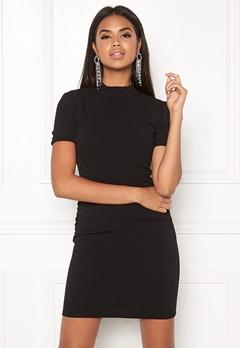 Jacqueline de Yong Lauren S/S Highneck Dress Black Bubbleroom.no