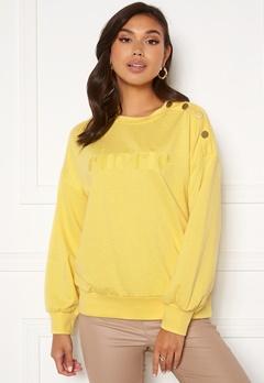 Jacqueline de Yong Louisiana L/S Button Sweat Yellow Cream Bubbleroom.no