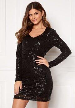 JDY Mimo Sequins L/S Dress Black Sequins bubbleroom.no